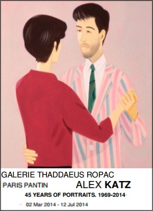 Galerie Thaddaeus Ropac Pantin - Exposition : Alex Katz, 45 years of portraits 1969-2014