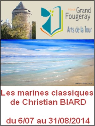Tour Duguesclin, Grand-Fougeray - Exposition : Christian Biard, Marines classiques