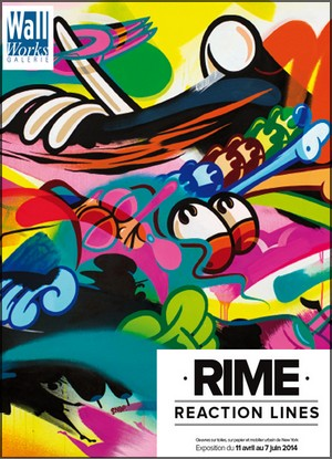 Galerie Wallworks - Exposition : Rime, Reaction Lines
