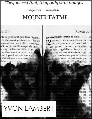 Galerie Yvon Lambert - Exposition : Mounir Fatmi, They were blind, they only saw images