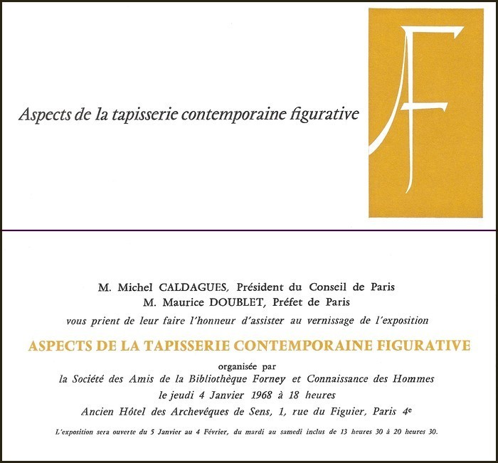 Exposition Aspects de la tapisserie contemporaine figurative